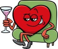 Valentine heart cartoon character Stock Image