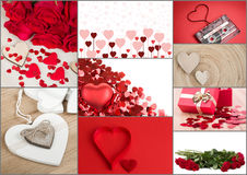 Valentine Heart Collection, Collage, Love Concept Stock Images