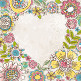 Valentine heart of color flowers. Vector illustration vector illustration