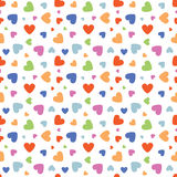 Valentine Heart Colored Seamless Pattern Stock Photo