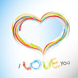 Valentine heart from colorful lines. Royalty Free Stock Photography