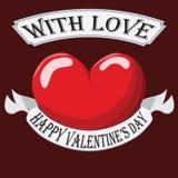 Valentine Heart con la muestra Fotos de archivo