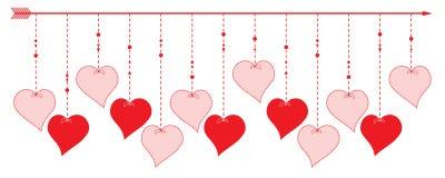 Valentine Heart - conception de frontière Photos stock