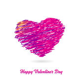 Valentine heart created from lines Royalty Free Stock Images