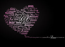 Valentine heart created from words. Royalty Free Stock Photos
