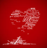 Valentine heart created from words. Stock Photography
