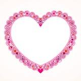 Valentine heart decorative frame Stock Photos