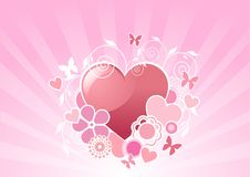 Valentine heart design Stock Images