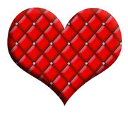 Valentine Heart Diamond Tufted Photo stock
