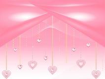 Valentine heart diamonds Stock Photography