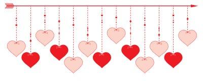 Valentine Heart - diseño de la frontera Imagen de archivo libre de regalías