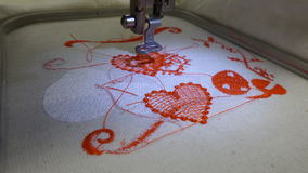 Valentine heart embroidery sewing Royalty Free Stock Image