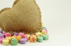 Valentine Heart en suikergoed Stock Fotografie