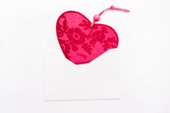 Valentine heart in an envelope Royalty Free Stock Image