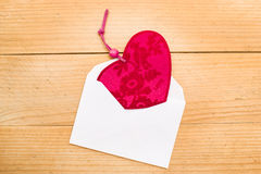 Valentine heart in an envelope Royalty Free Stock Photo