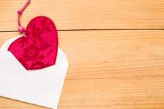 Valentine heart in an envelope Royalty Free Stock Images