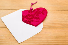Valentine heart in an envelope Stock Image