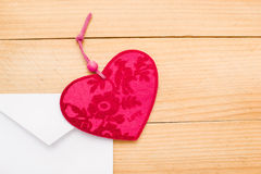 Valentine heart in an envelope Stock Photo