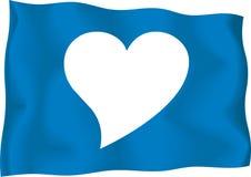 Valentine Heart Flag. Heart image on a flag for lovers stock illustration