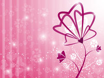 Valentine Heart Floral Pink Background. EPS 10 Vector Royalty Free Stock Photos