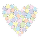 Valentine heart of flowers Royalty Free Stock Photo