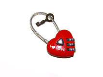 Valentine. The heart in the form of a code lock with key Stock Photos