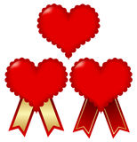 Valentine Heart Frame. Valentine Heart tag with a red ribbon Vector Illustration