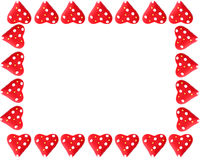 Valentine heart frame or border Stock Photo