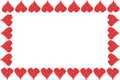 Valentine heart frame or border Stock Image