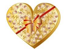 Valentine Heart Gift Box. Vector Illustration of a Cartoon Valentine Heart Gift Box vector illustration