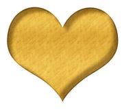 Valentine Heart Gold Fotografía de archivo libre de regalías