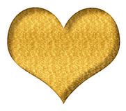 Valentine Heart Gold Royalty Free Stock Photography