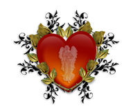 Valentine Heart Graphic Royalty Free Stock Photography