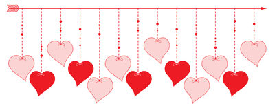 Valentine Heart - grensontwerp Stock Foto's