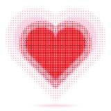 Valentine Heart Halftone Fotos de archivo libres de regalías