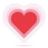 Valentine Heart Halftone Royalty Free Stock Photos