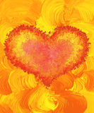 Valentine heart, hand painted Royalty Free Stock Image