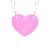 Valentine heart  hanging labels. Stock Image
