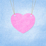 Valentine heart  hanging labels. Royalty Free Stock Images