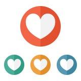 Valentine heart icon Royalty Free Stock Photos