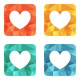 Valentine heart icon Royalty Free Stock Images