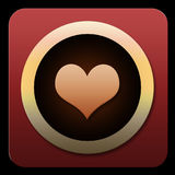 Valentine Heart Icon for pad or phone Stock Photography