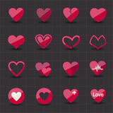 Valentine and heart icons Royalty Free Stock Photo
