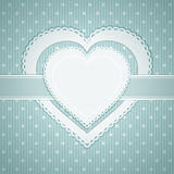 Valentine heart label Royalty Free Stock Image