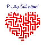 Valentine heart with labyrinth Royalty Free Stock Photo