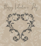 Valentine Heart of Laurel Leaves Stock Photography