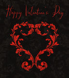 Valentine Heart of Laurel Leaves Royalty Free Stock Photos