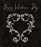 Valentine Heart of Laurel Leaves Stock Photo