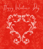 Valentine Heart of Laurel Leaves Royalty Free Stock Photo