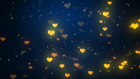 Valentine Heart Lights 1 Loopable Background stock footage